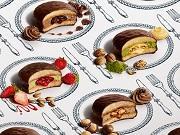 フォークとナイフを使用して食べる「生チョコパイ」は全部で4種類。