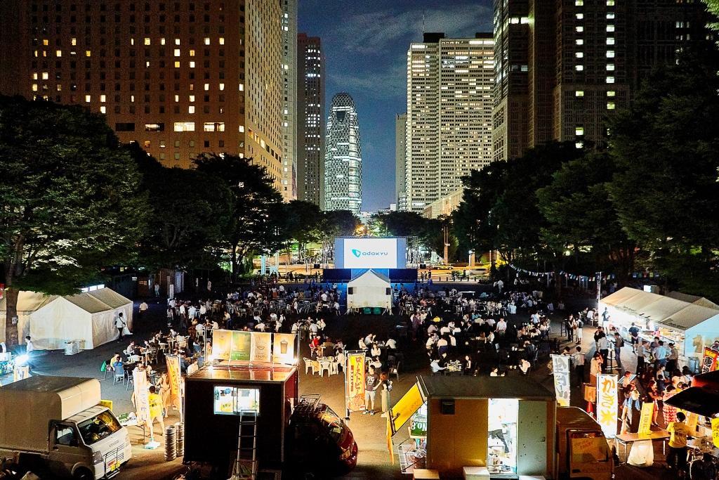 昨年開催された「Screen@ Shinjuku Central Park」の様子