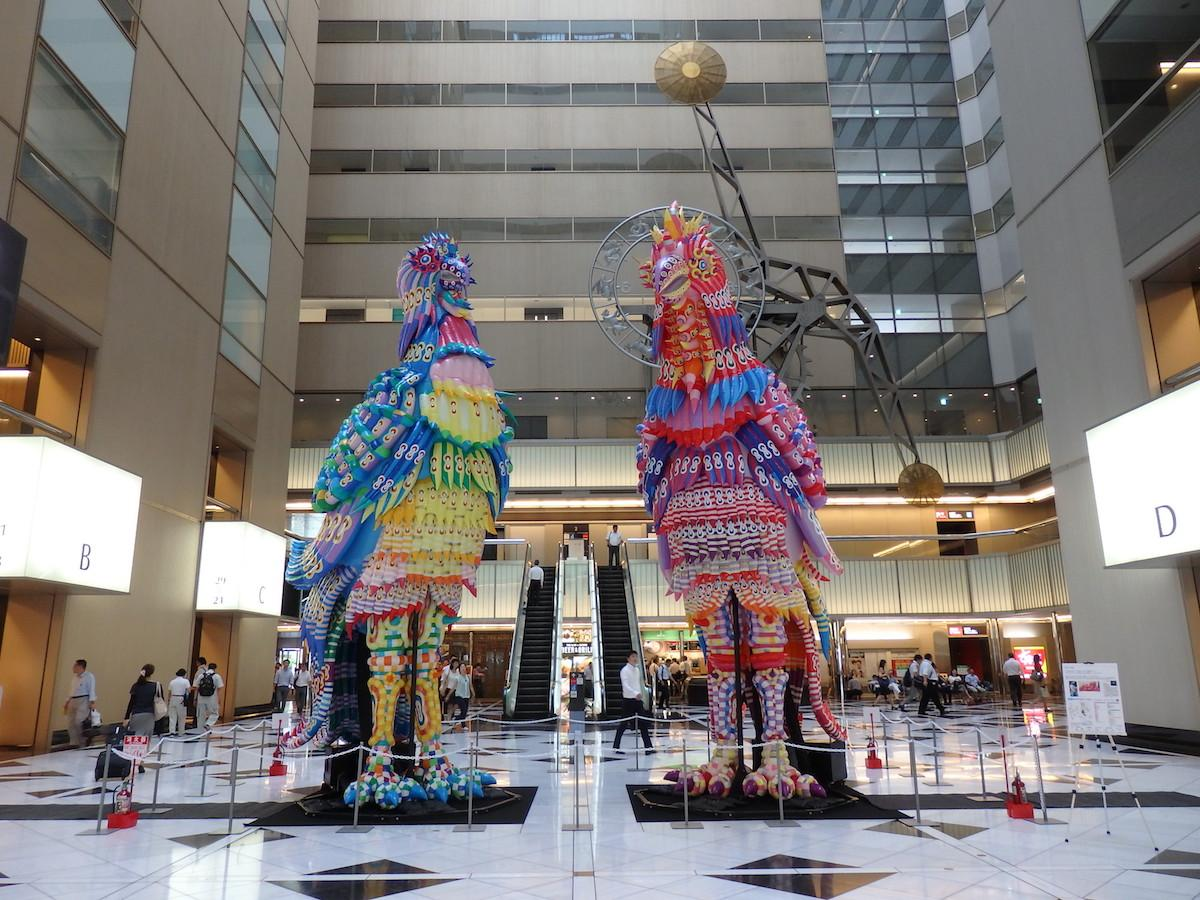 「新宿クリエイターズ・フェスタ」に展示されているCGアーティスト、河口洋一郎さんの作品  © Yoichiro Kawaguchi