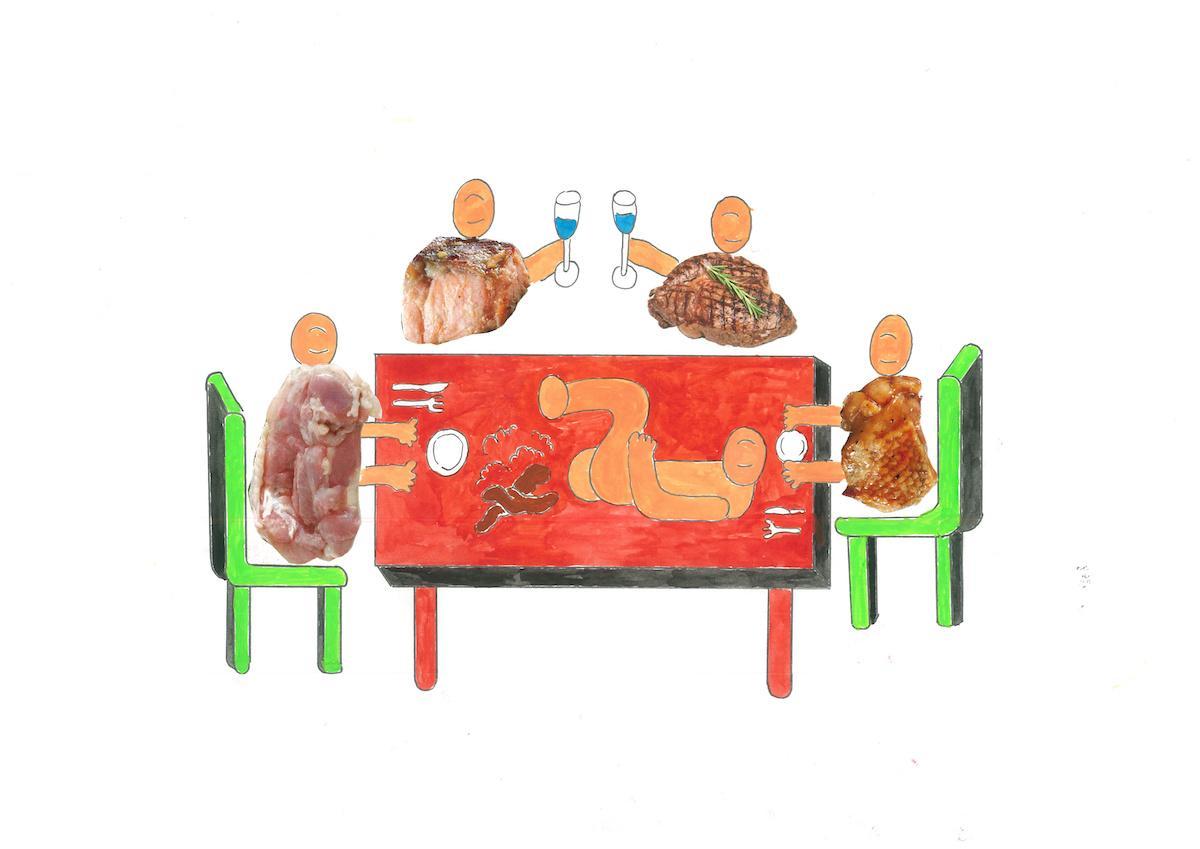 2週間限定で行われる「Chim↑Pom」によるプロジェクト「にんげんレストラン」(イメージ)
