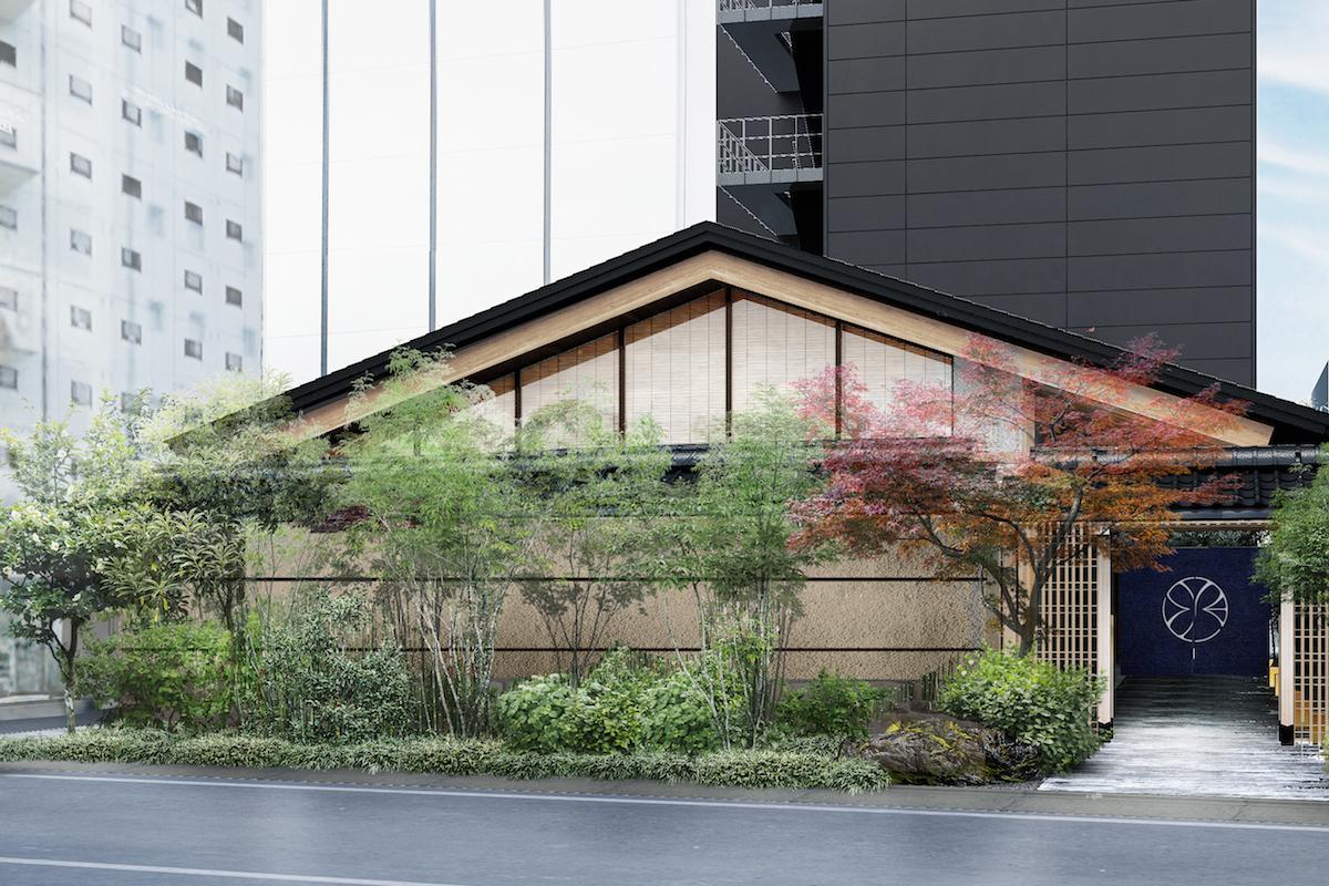 来春オープン予定の「ONSEN RYOKAN YUEN SHINJUKU」外観イメージ