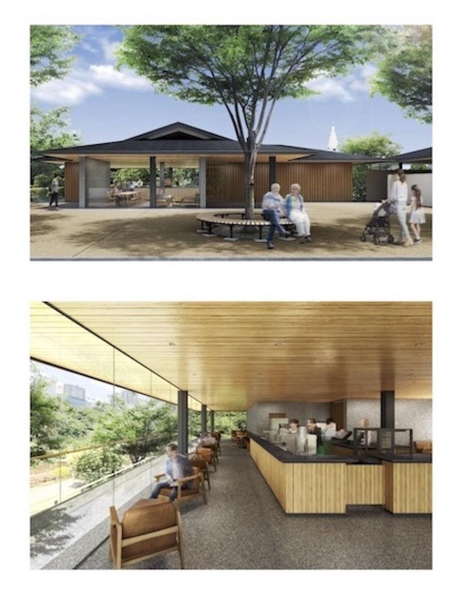 新宿御苑レストハウス改修イメージ