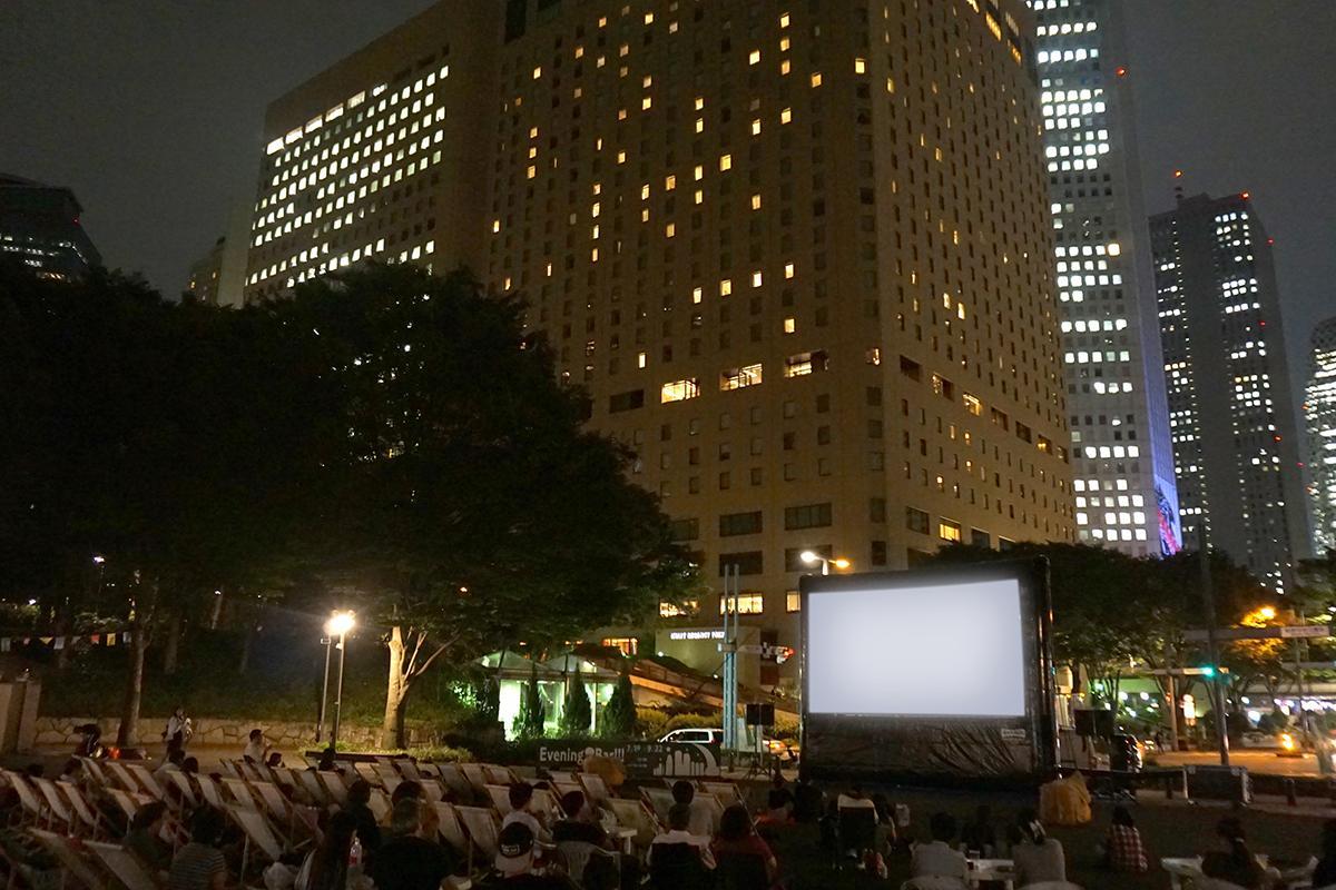 昨年開催した「新宿パークシネマフェスティバル」の様子