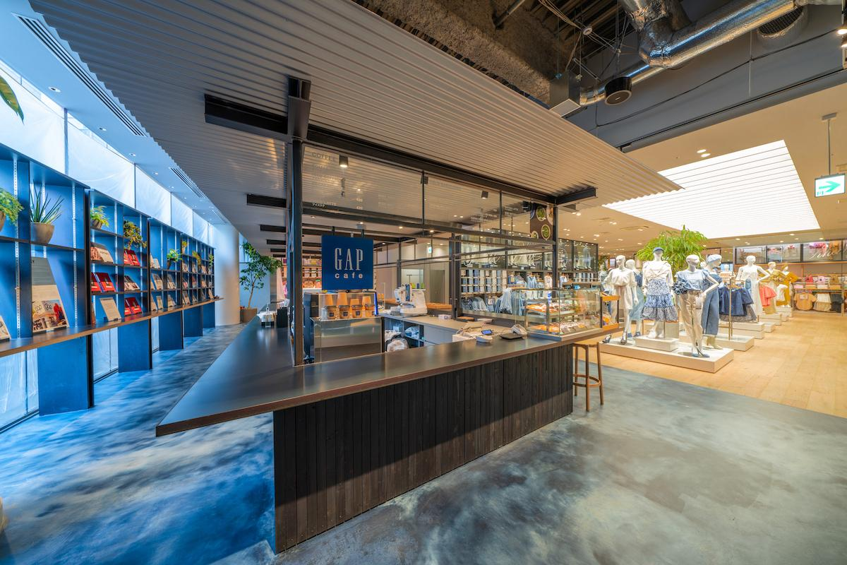 「Gap新宿フラッグス店」に誕生したカフェエリア