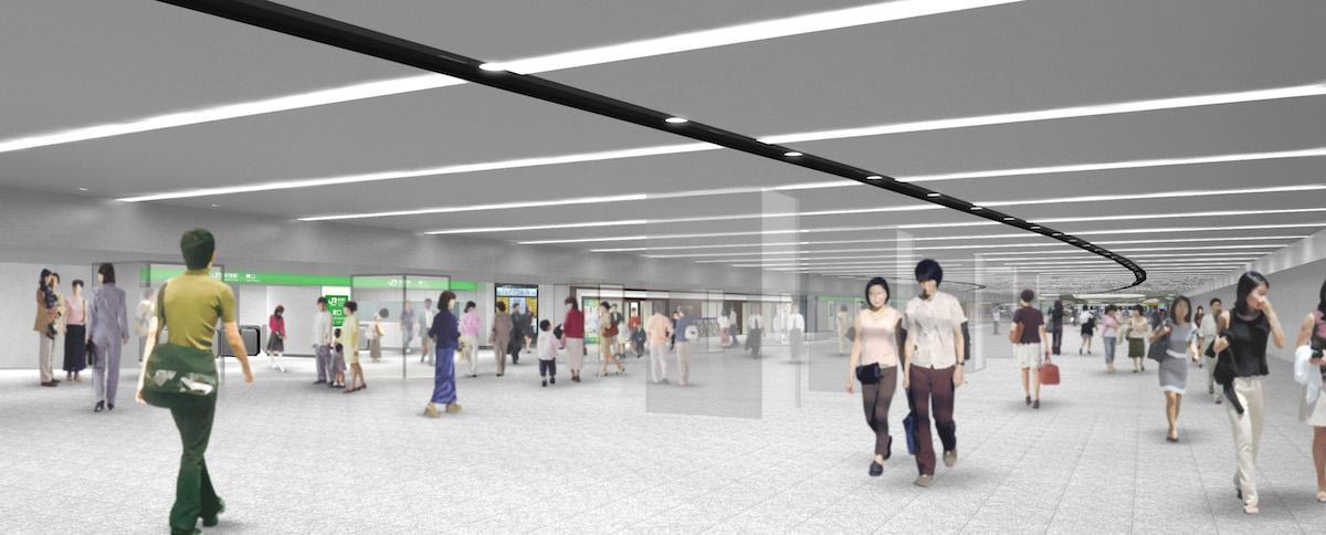 東西自由通路のイメージ(資料提供:東日本旅客鉄道株式会社)