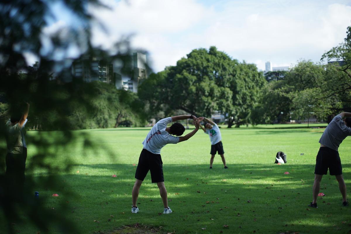 新宿御苑で行う「7-9PARK」の運動プログラム(イメージ)