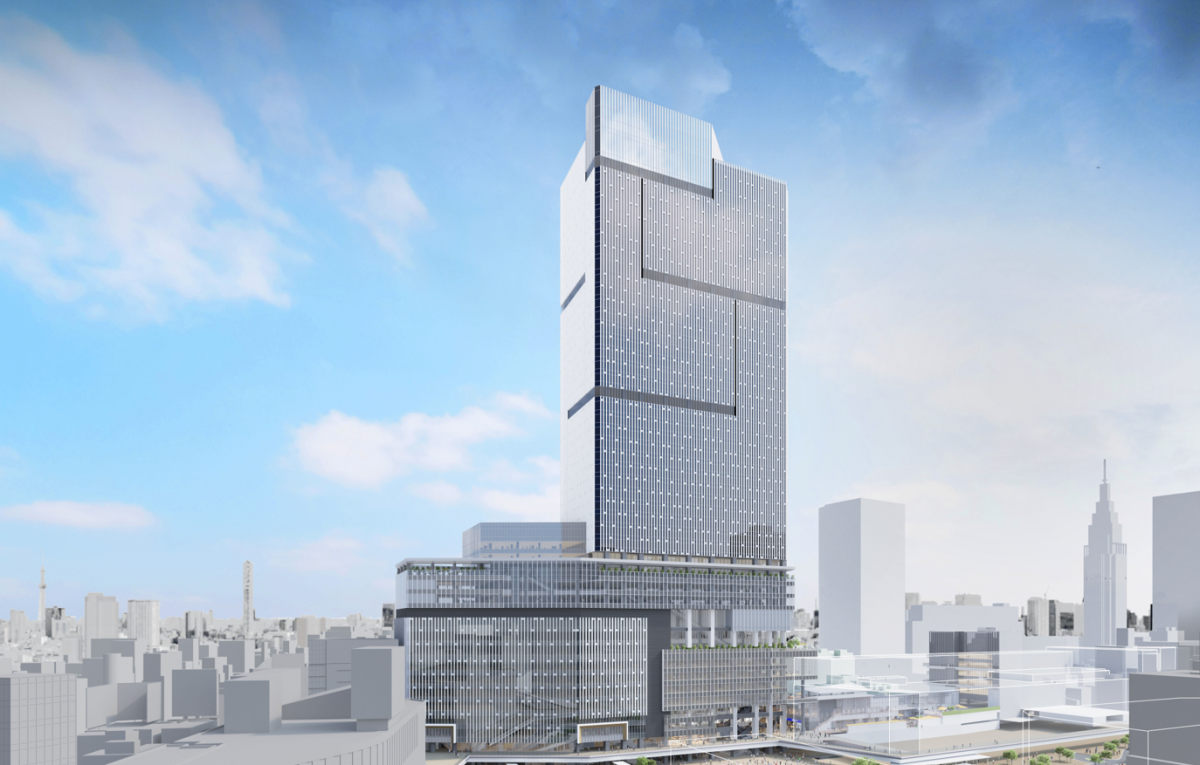 新宿駅西口の開発で建築を予定する高層ビルのイメージ