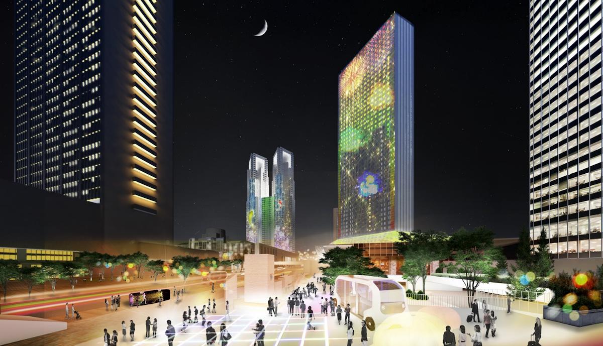 西新宿のスマートシティー化計画イメージパース