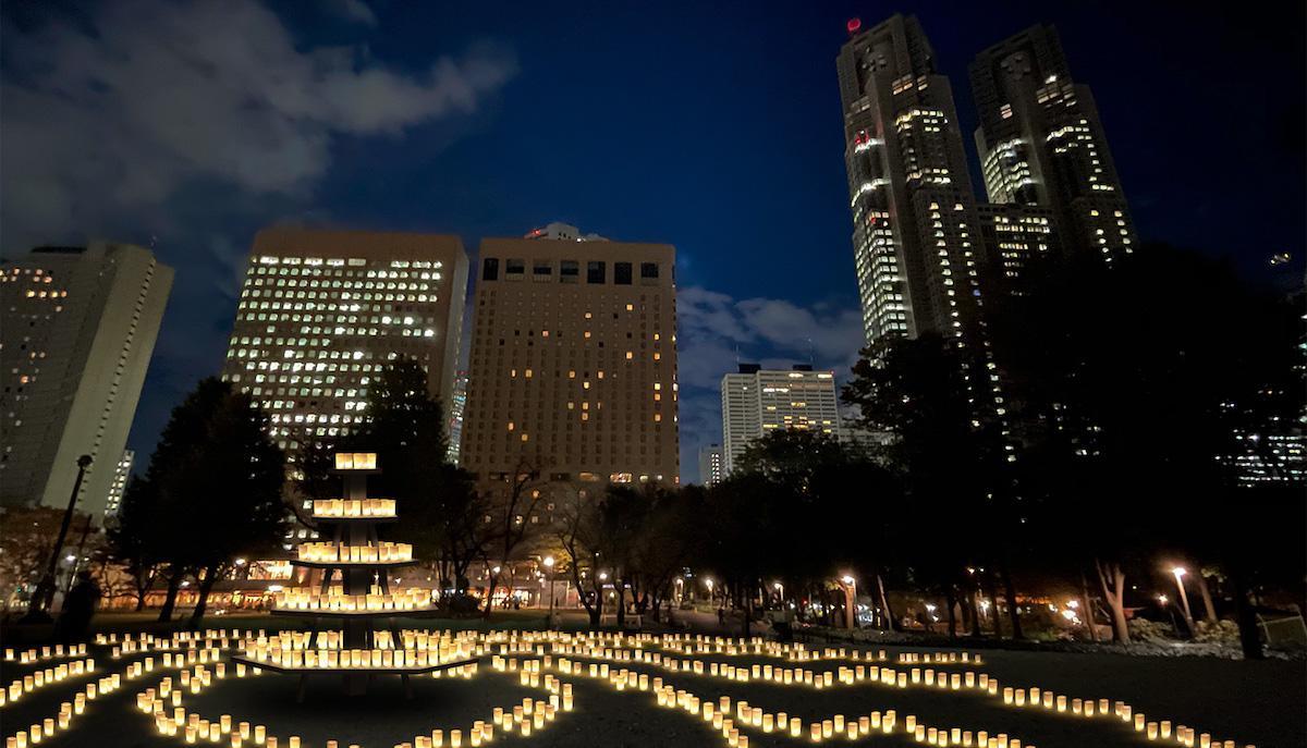 新宿中央公園で開催する「キャンドル ナイト」のイメージ