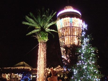 例年以上にパワーアップ、江の島展望灯台ライトアップ