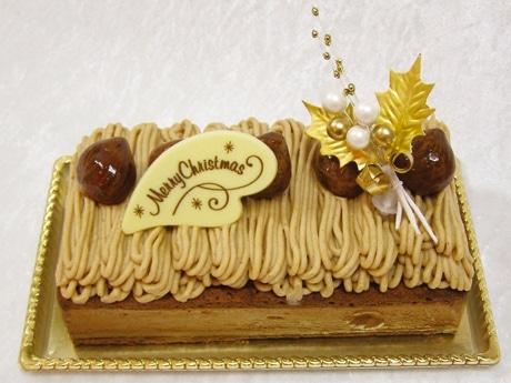 厳選した栗を使用したチョコレートモンブランのクリスマスケーキ