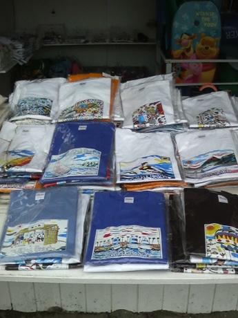 逗子海岸を中心としたデザインのTシャツ、全16種類