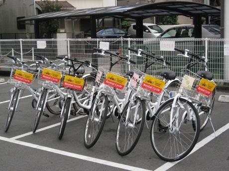 今回貸し出された6台の自転車