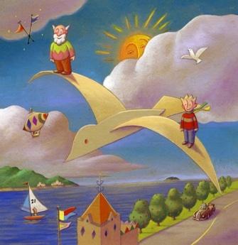 「マフィーくんとジオじいさん Paper Bird」