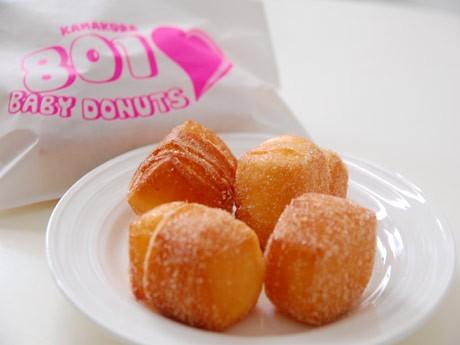ハワイの名物ドーナッツ「マラサダ」を小ぶりにし、食べやすくした「BABY DONUTS」を店頭でも販売