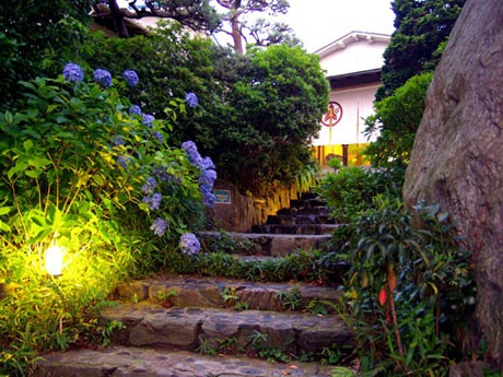 情緒豊かな茅ヶ崎館の庭園と外観