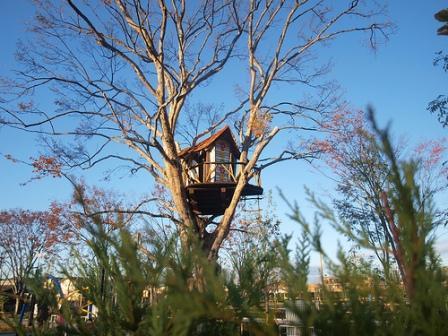 小林さんが制作したツリーハウスのひとつ