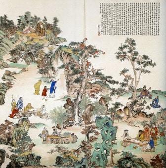 河野通勢 桃源郷に遊ぶ人々(西園雅集図)