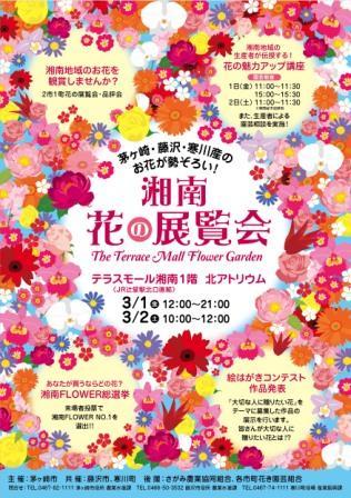 テラスモール湘南で初の開催となる湘南花の展覧会