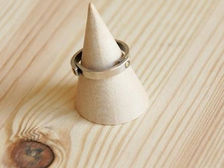 平打ちリングを3等分に切断し真鍮で、かしめたリング