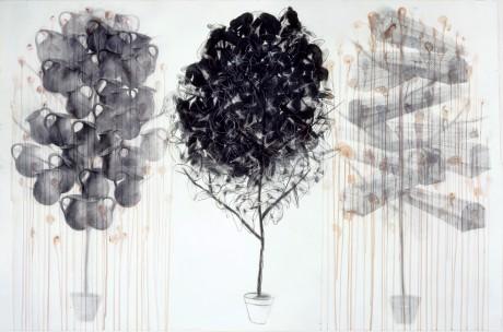 藤山さんの作品「三本のノアの木」