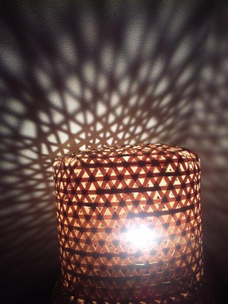 竹をつかった佐川良子さんの作品