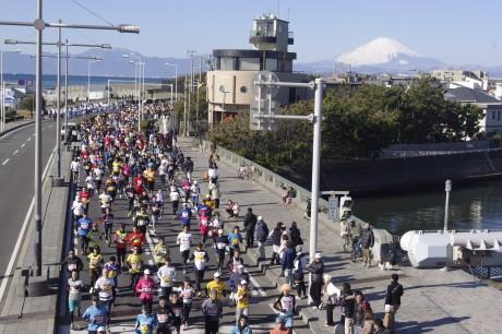 湘南藤沢市民マラソンの過去の大会の様子