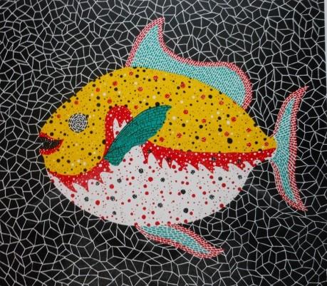 草間彌生さんの作品「魚」