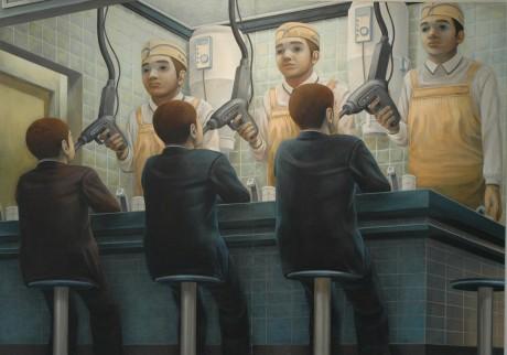 石田徹也の作品「燃料補給のような食事」