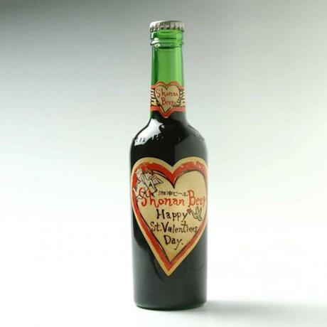 熊澤酒造が限定発売した「湘南ビール チョコレートポーター バレンタインラベル」