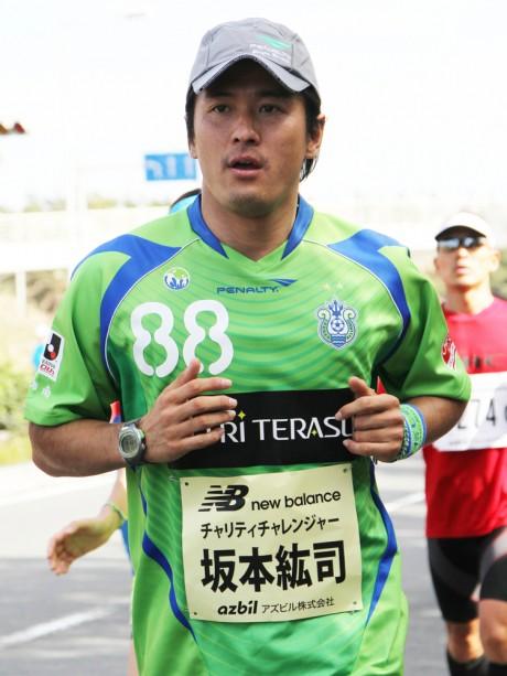 初出場時の坂本さん。「入りを抑え過ぎて挽回できず目標の4時間を切れなかった」と悔しがる