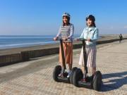 真冬の湘南海岸公園で食べて遊んで 海を見ながらセグウェイ体験も