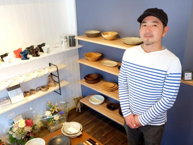 内装は店主の森澤さんがほとんど手作業で仕上げた。棚には実際に使ってもらうことを前提に選んだという商品が並ぶ