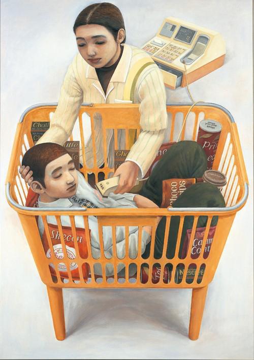 31歳で急逝した石田徹也の「コンビニエンスストアの母子像」。「なんだろう」と思わずにはいられない