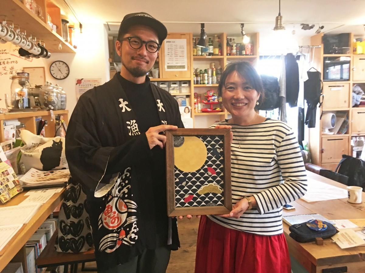 「SKETCH」代表関根さん(左)と「ARTradeJAPAN」代表の出水澤さん(右)