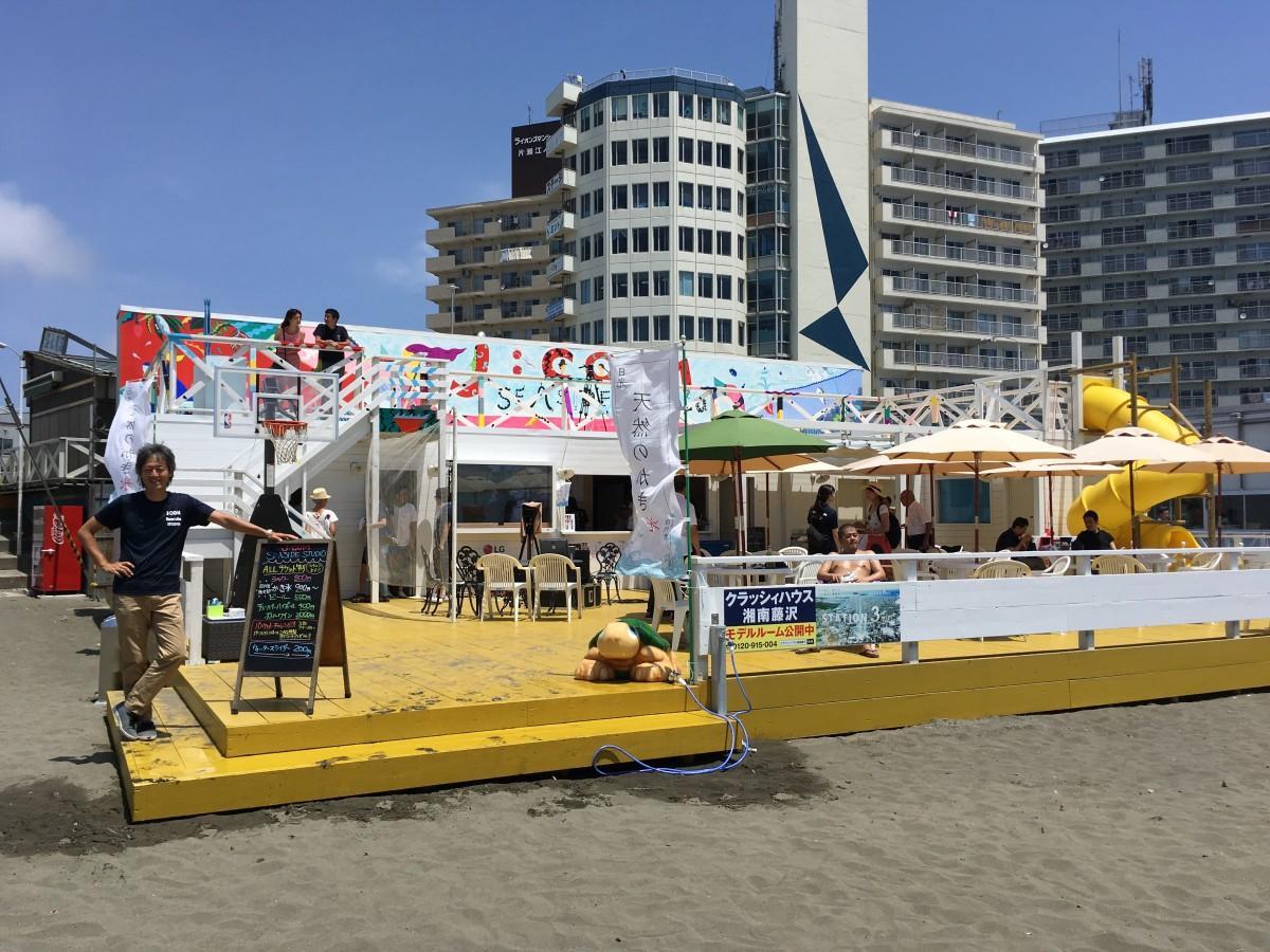 7月1日海開き当日のJ:COM Seaside Studio