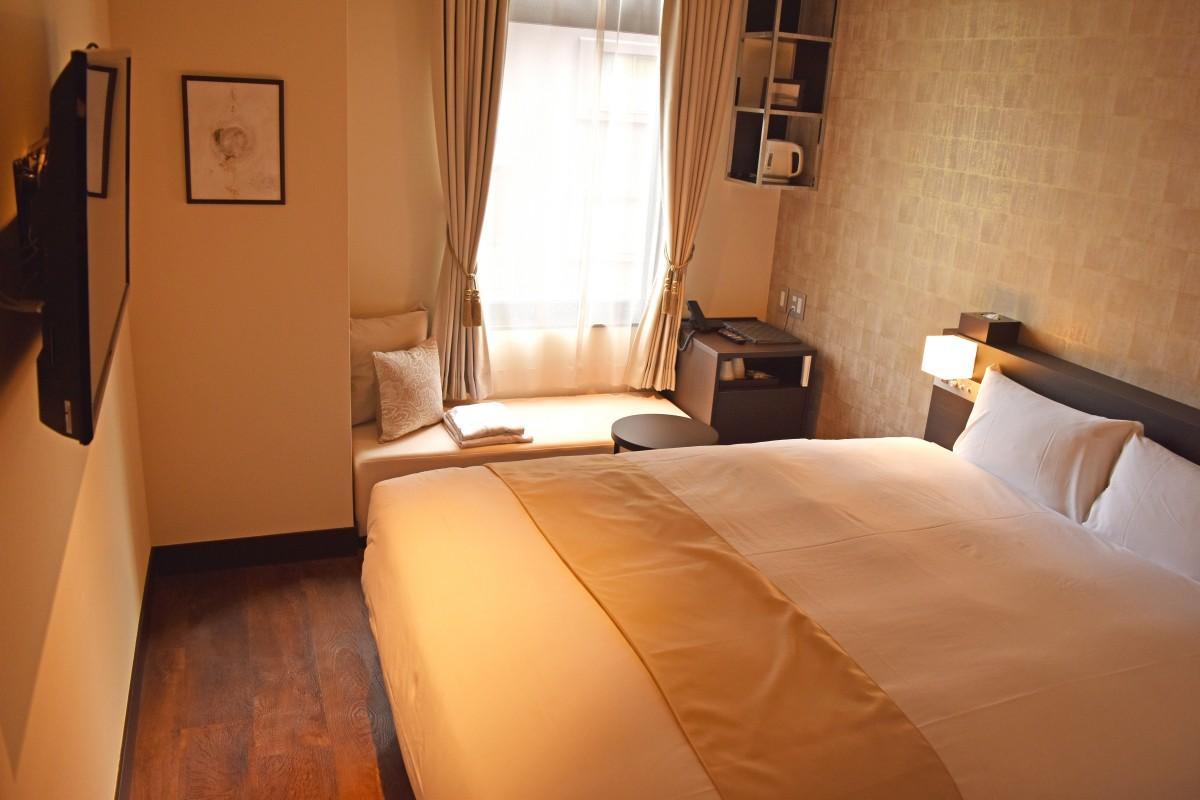 スランバーランド製のベッドを用意した客室