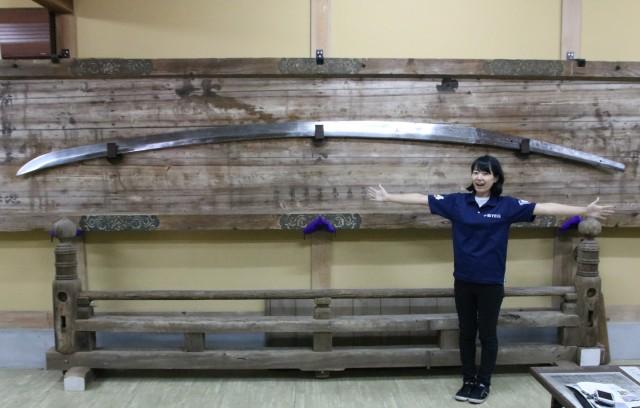 長さ日本一の日本刀「破邪の御太刀」