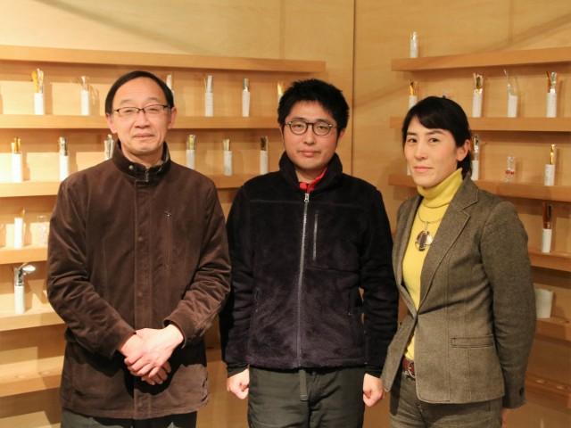 左から高下正明さん、西尾司さん、楊井朋子さん