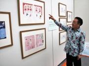 周南市美術博物館で雑貨デザイナー・シンジカトウさん作品展 初公開の絵本原画も