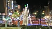 周南・徳山駅前賑わい交流施設のオープンデッキ イブの夜に一般開放