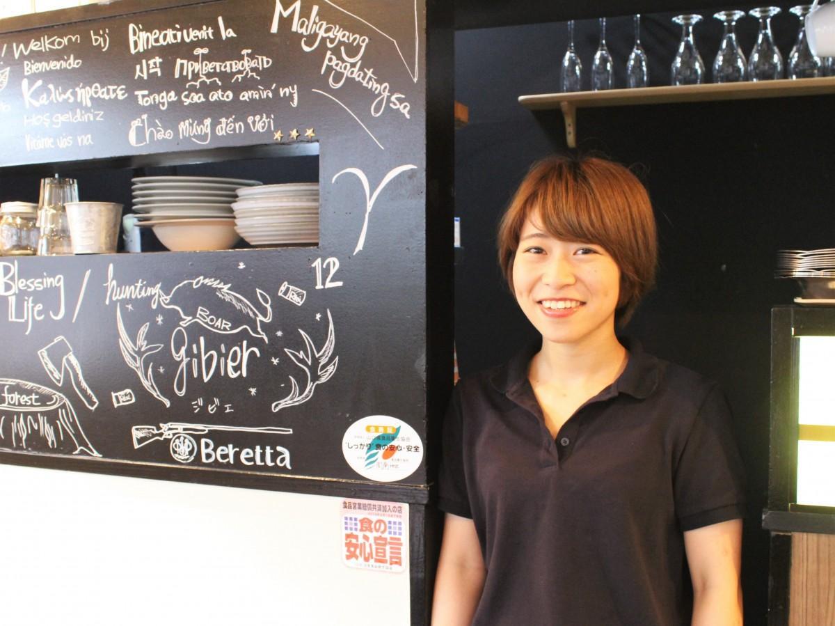カフェ店長の定廣さん