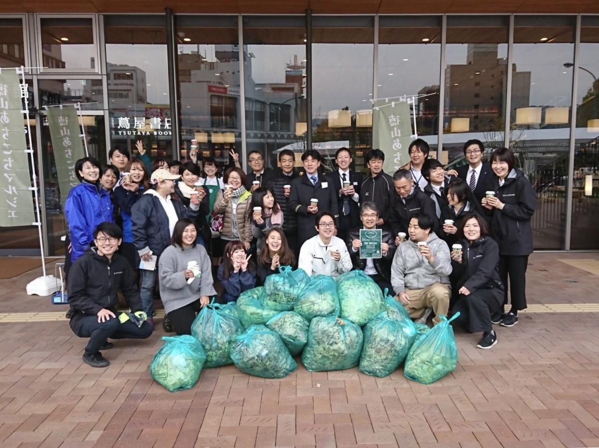 徳山駅周辺の清掃活動「徳山あちこちクリーンプロジェクト」第1回目集合写真