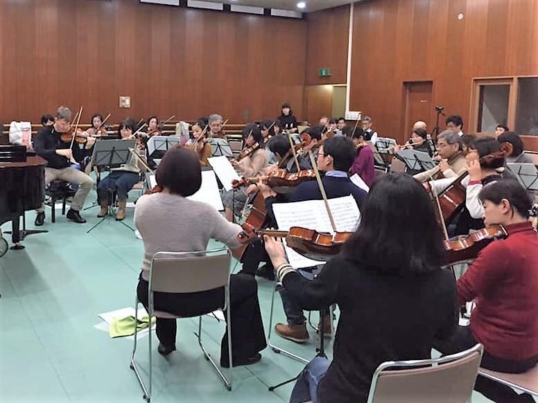 周南フィルハーモニー管弦楽団 練習の様子