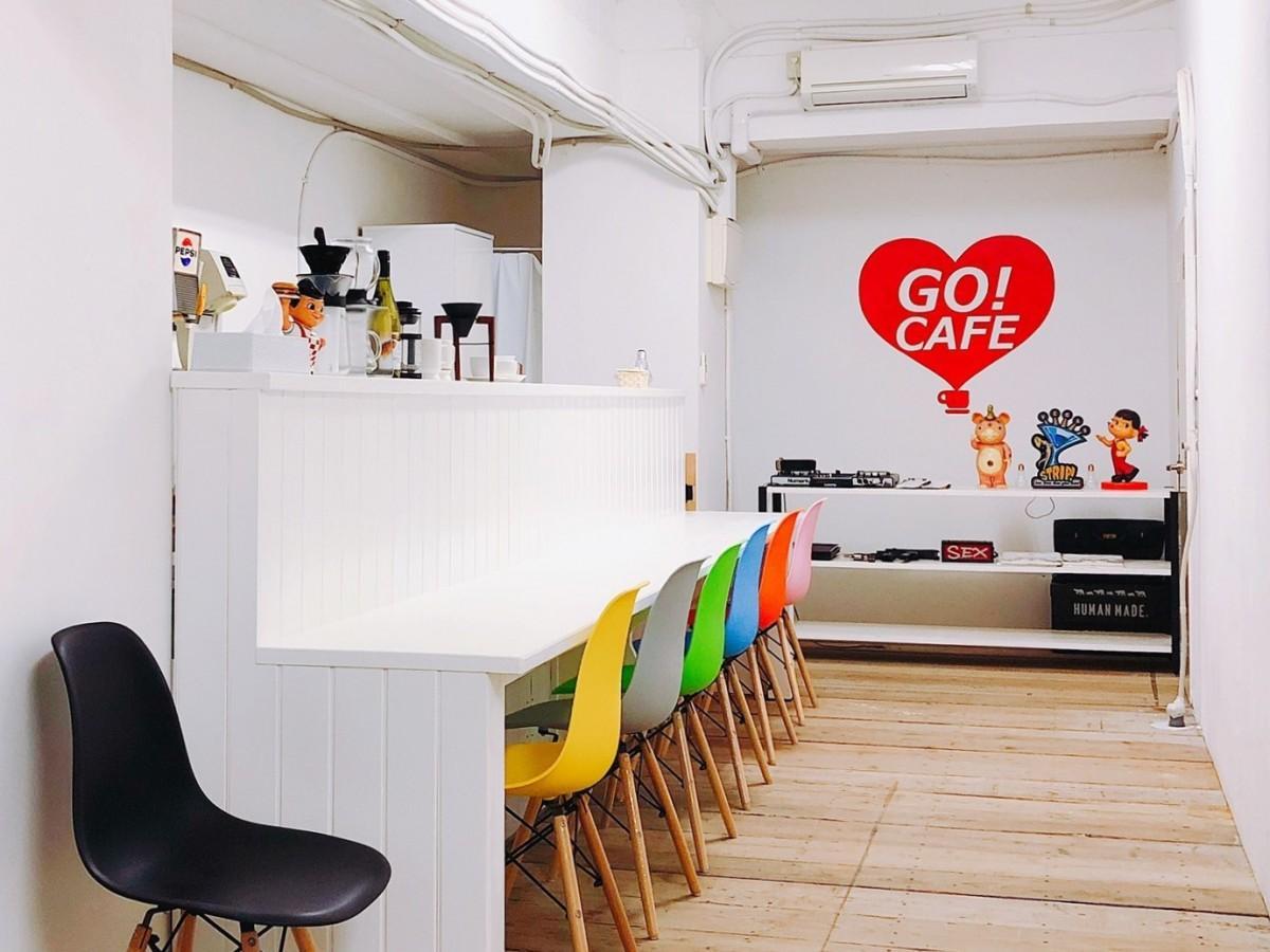 併設されたカフェスペース「GO!CAFE」
