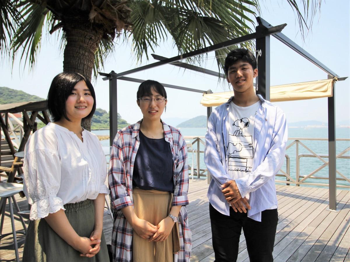 徳山大学の学生サークル「T-SAC」のメンバー
