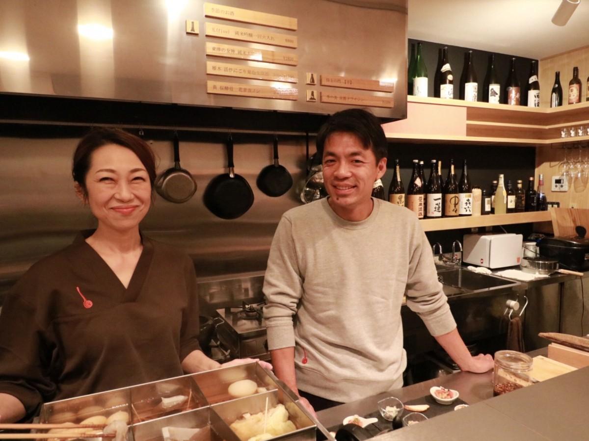 木工職人の須田さん(右)とスタッフの石丸さん(左)