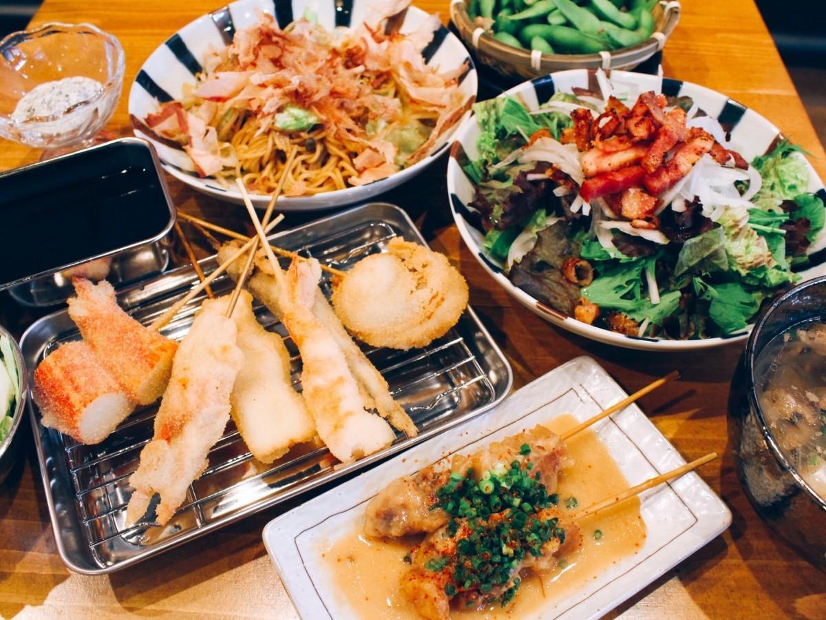 肉か魚のメイン串が選べるコース