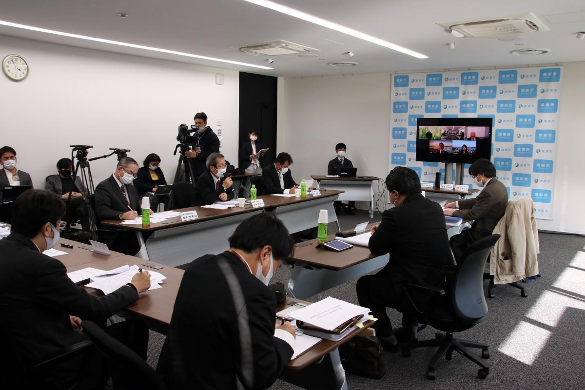 徳山大学公立化有識者検討会議の様子