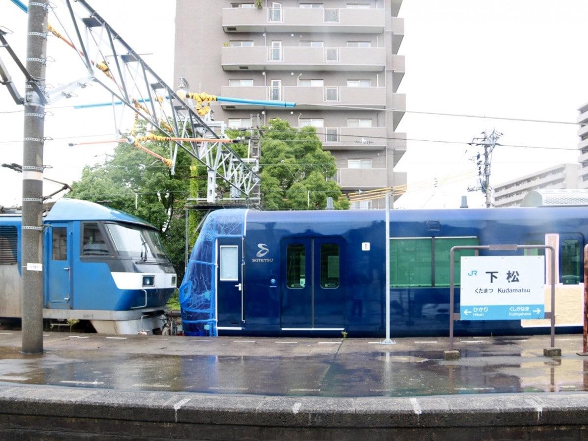 下松駅に止まる20000系車両 - 周南経済新聞